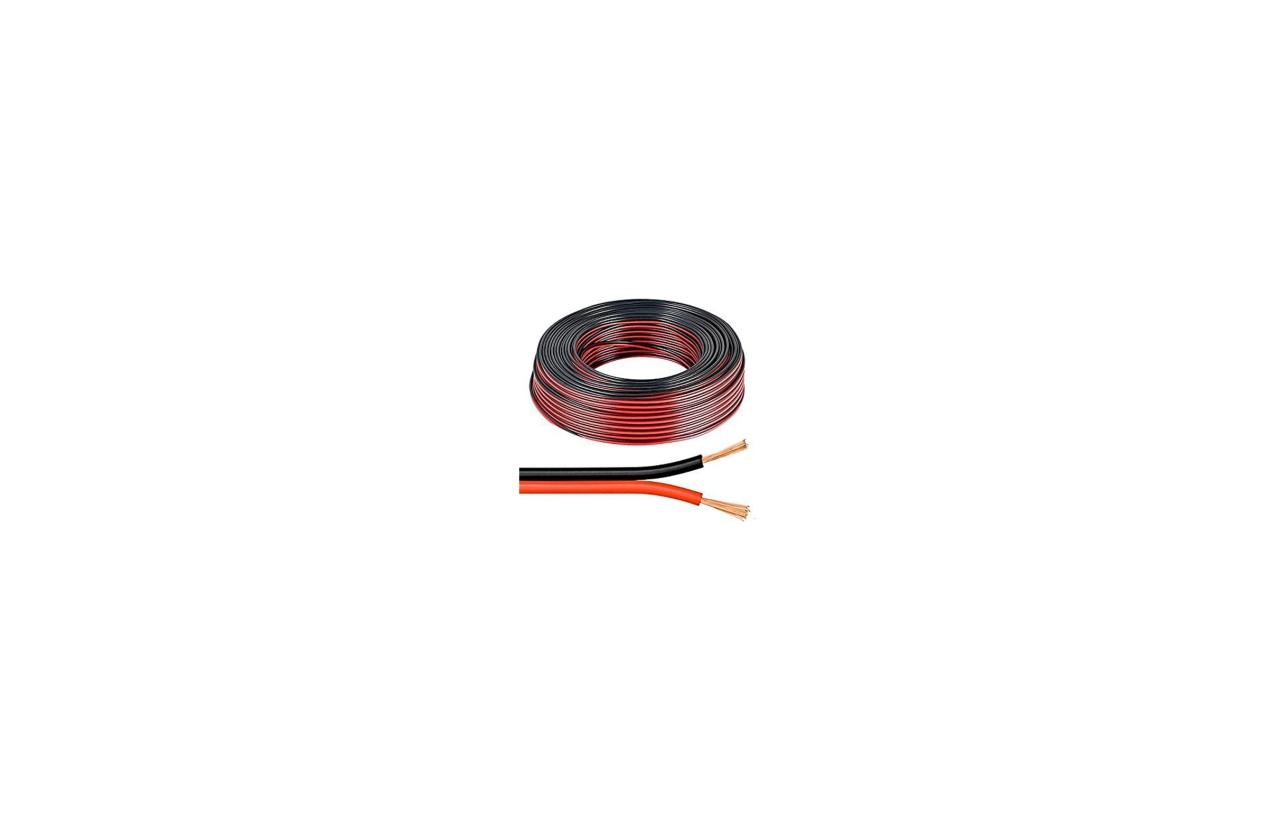 Fio de coluna 2x2.5mm preto/vermelho