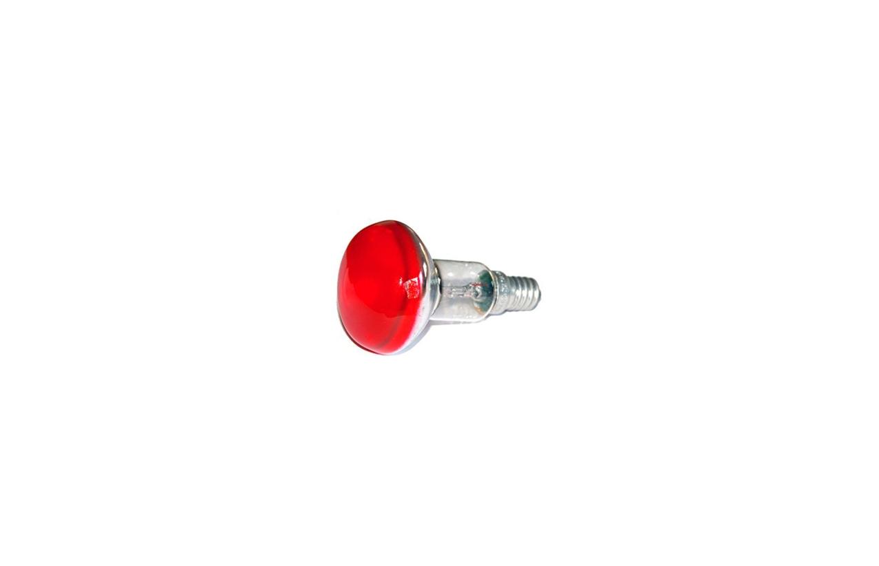 Lâmpada incandescente R50 vermelha E14 25W