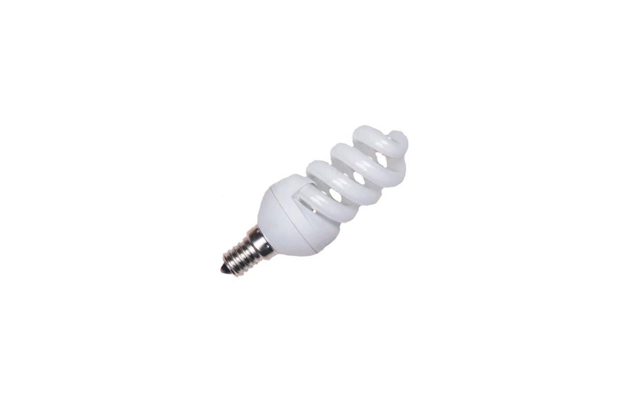 Lâmpada fluorescente espiral ECO E14 9W
