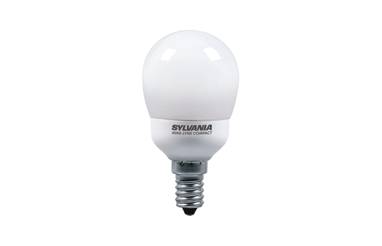 Lâmpada fluorescente esférica ECO E14 9W