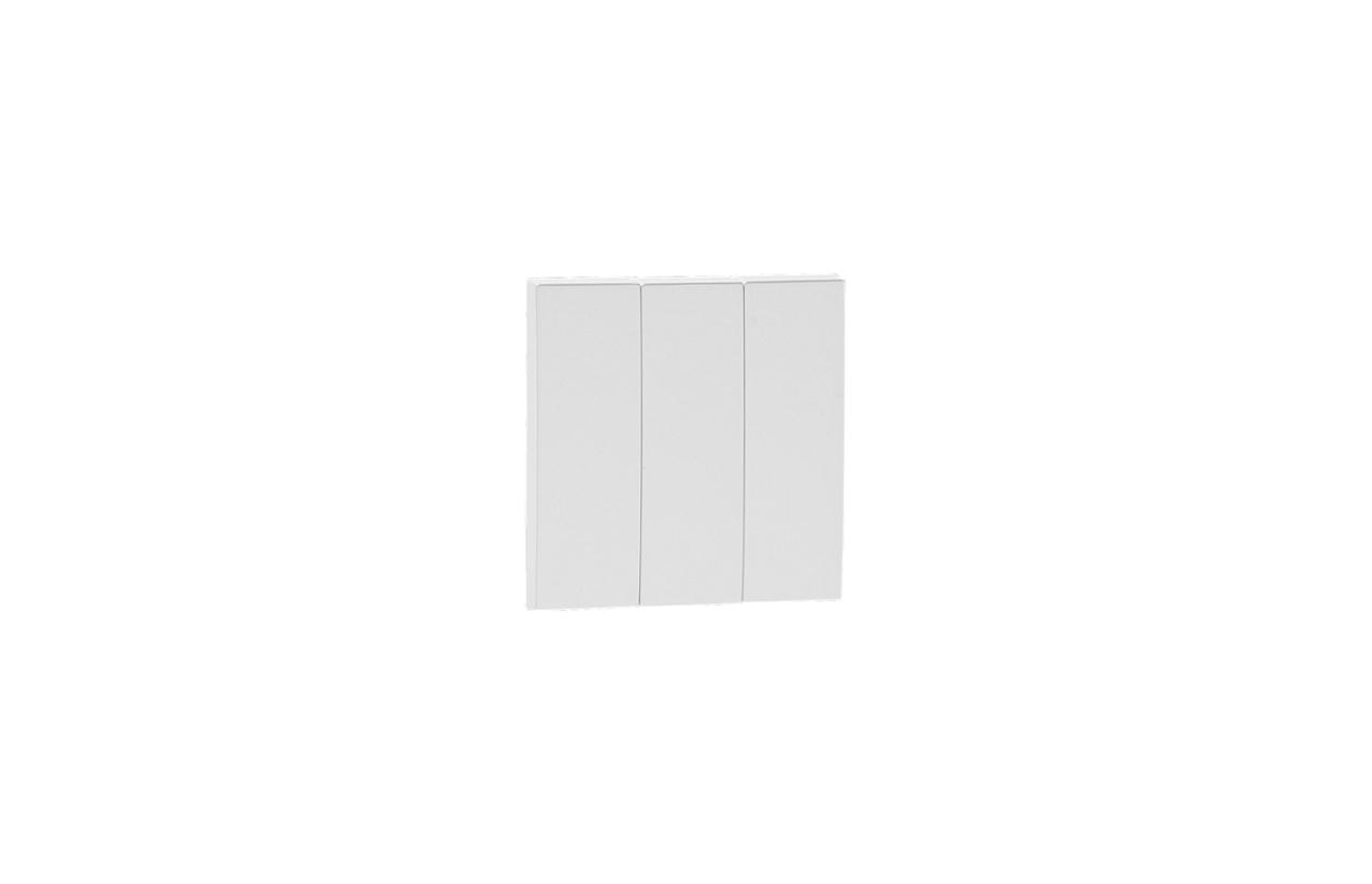 Tecla tripla branca Logus 90 90661 T BR