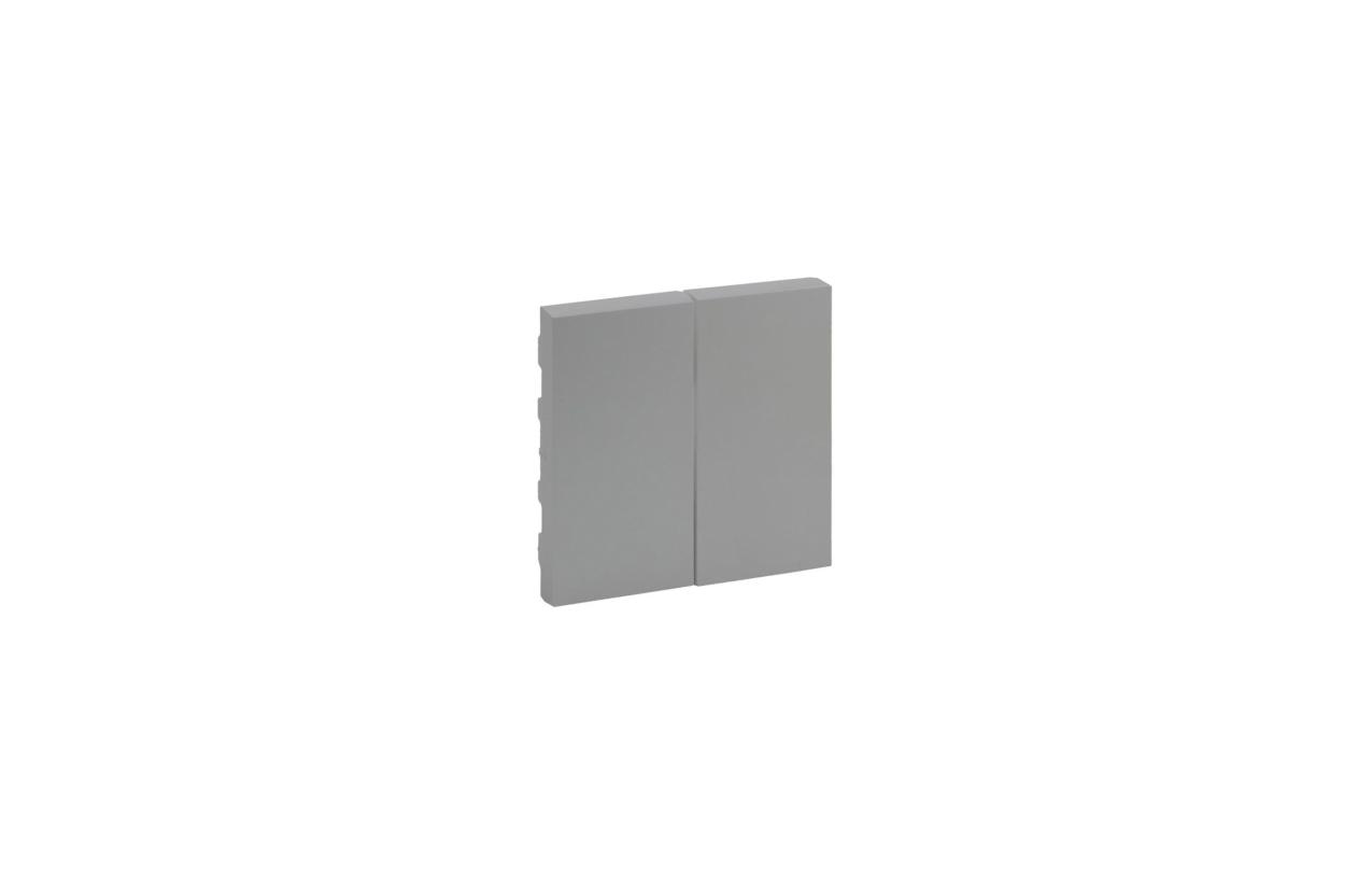 Tecla dupla cor alumínio Niloé Step 864305