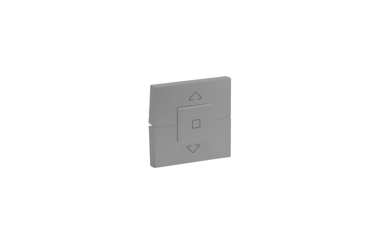 Tecla cor alumínio 3 posições para comando de estores Niloé Step 864331