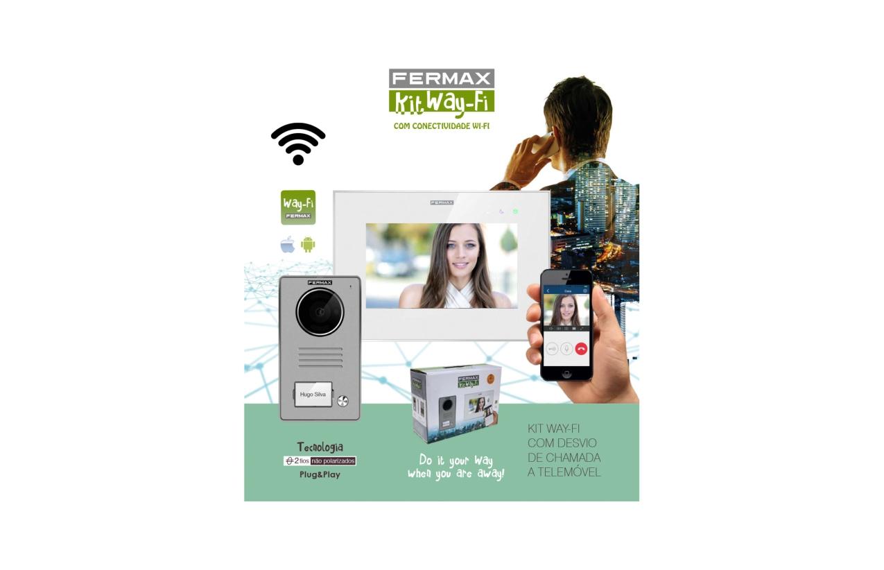 Kit vídeo Way-Fi com desvio de chamada para telemóvel 1431