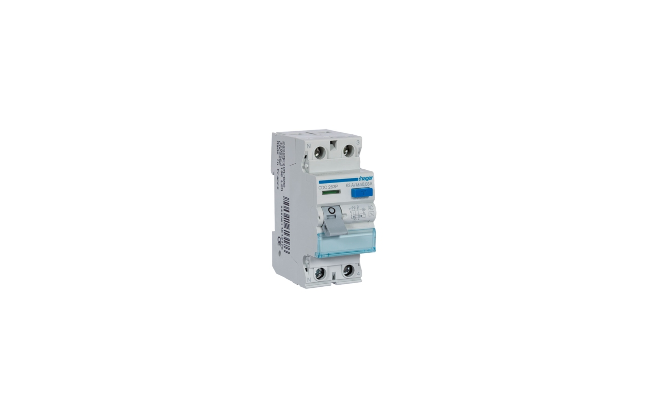 Interruptor diferencial 2P 63A 30mA tipo AC CDC263P