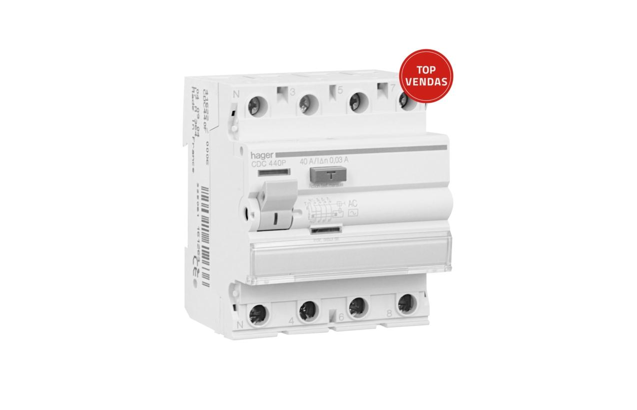 Interruptor diferencial 4P 40A 30mA tipo AC CDC440P