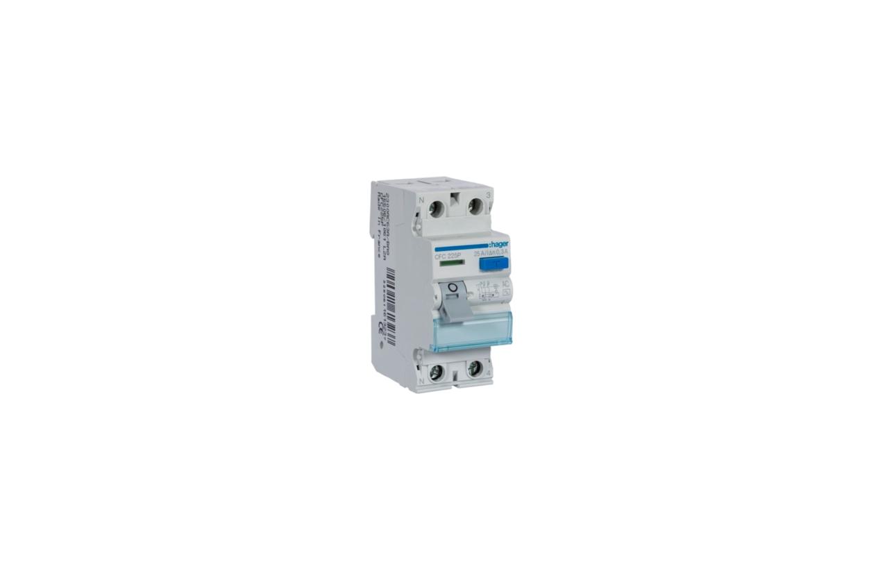 Interruptor diferencial 2P 25A 300mA tipo AC CFC225P