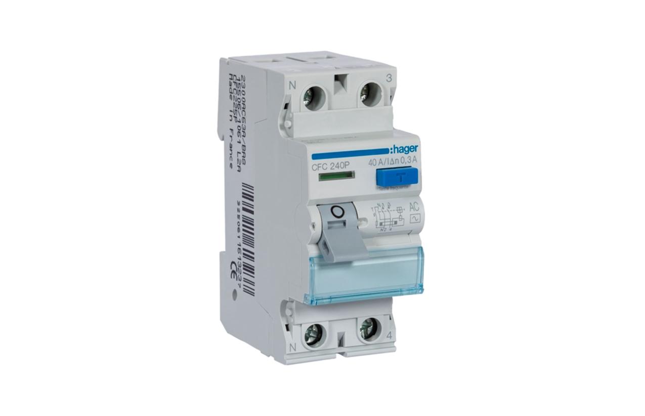 Interruptor diferencial 2P 40A 300mA tipo AC CFC240P