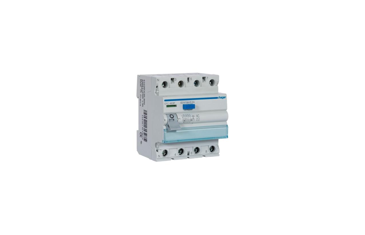 Interruptor diferencial 4P 63A 300mA tipo AC CFC463P