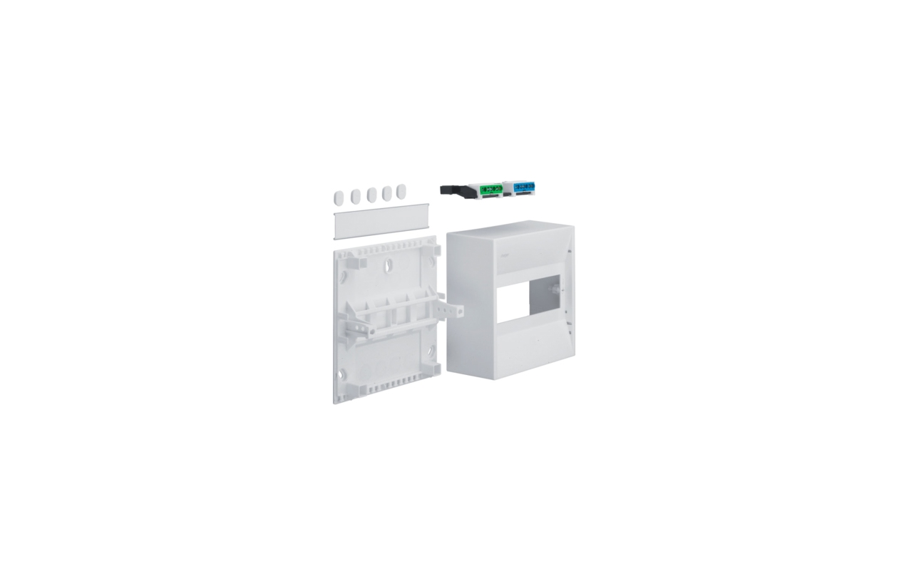 Caixa MINI-GAMMA saliente 1 fila 8 módulos GD100N