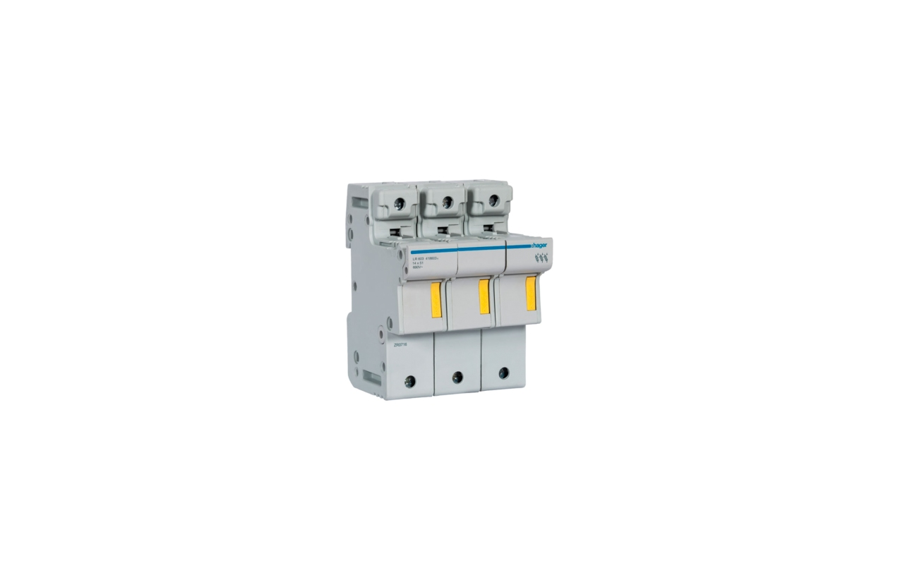 Corta-circuito 3P 50A fusível 14x51mm LR603