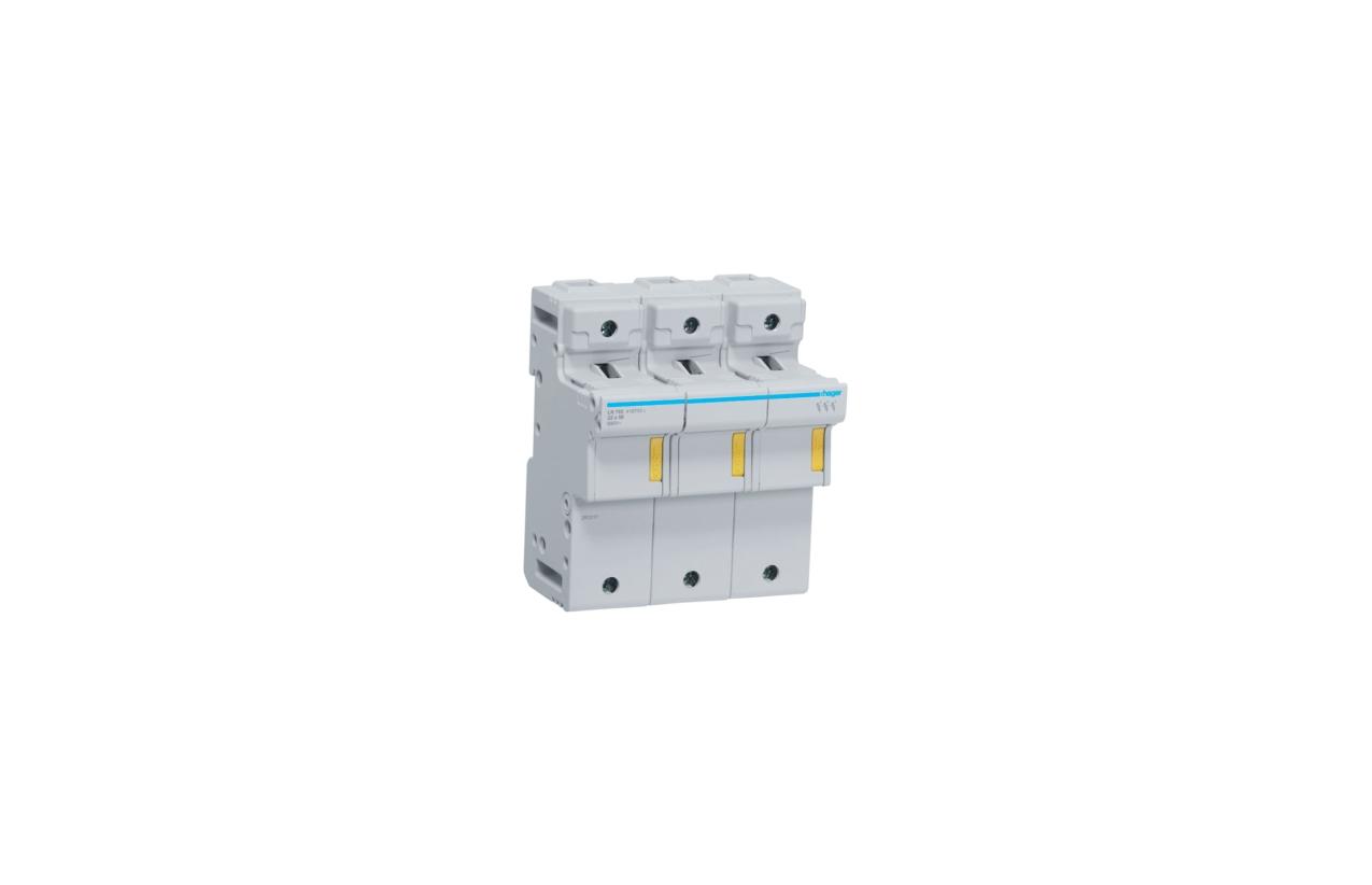 Corta-circuito 3P 125A fusível 22x58mm LR703