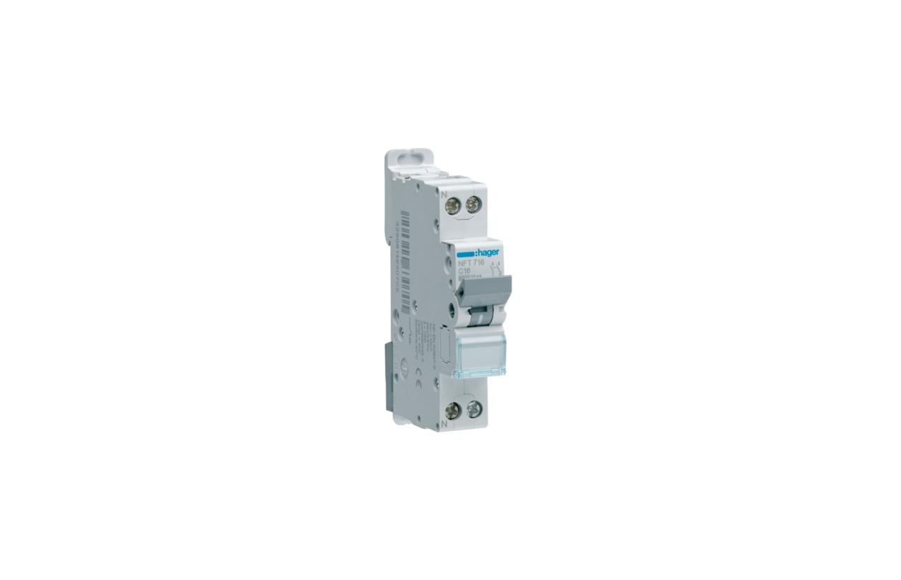 Disjuntor 1P+N 10A C 4.5/6KA 1M MJT710