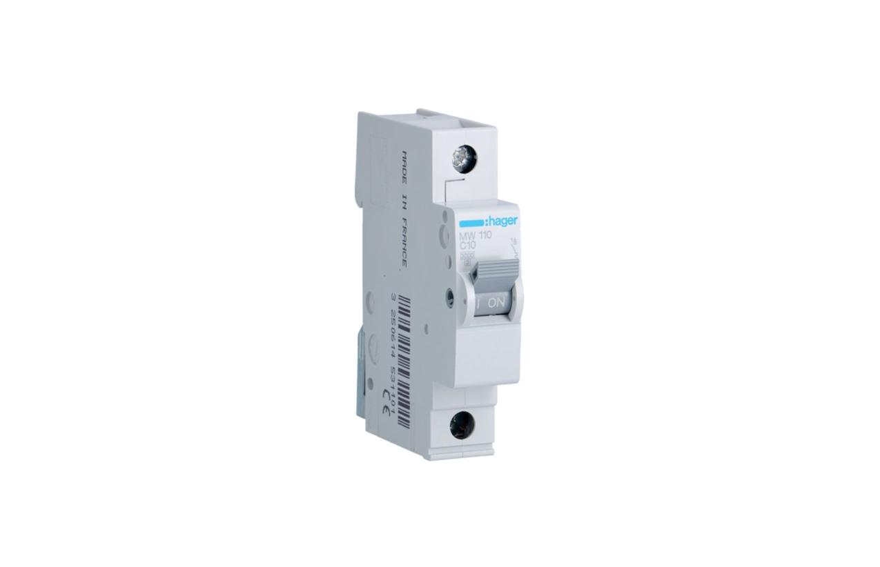Disjuntor 1P 10A C 3kA 1M MW110