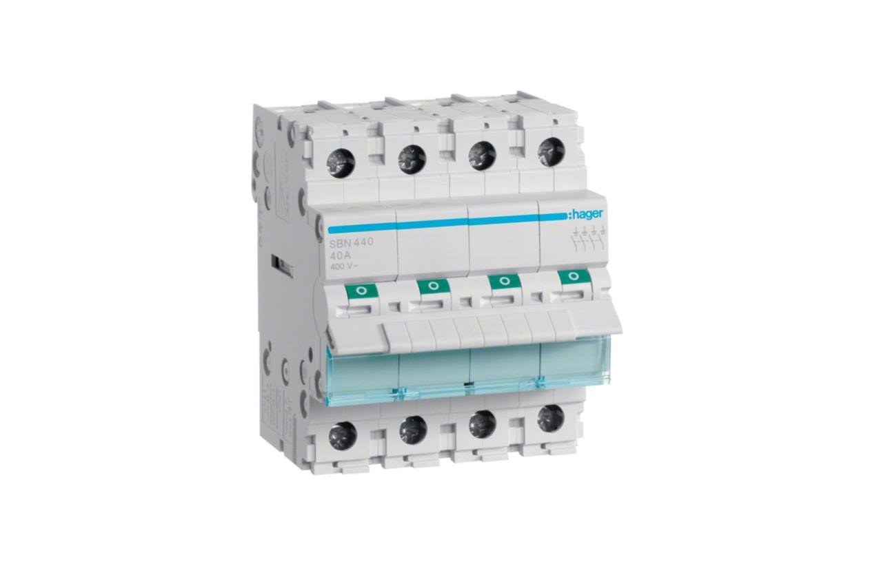 Interruptor modular 4P 40A SBN440