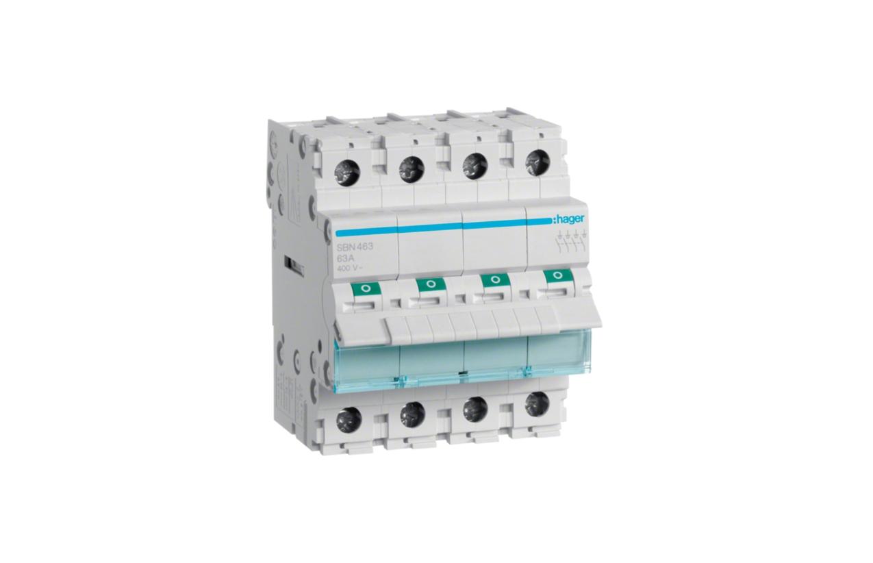 Interruptor modular 4P 63A SBN463