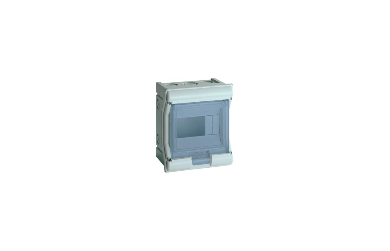 Caixa VECTOR estanque saliente 1 fila 4 a 6 módulos porta transparente VE106F