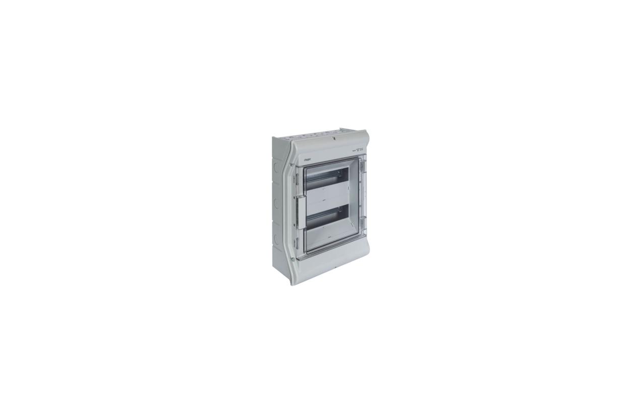Caixa VECTOR estanque saliente 2 filas 24 módulos porta transparente VE212F