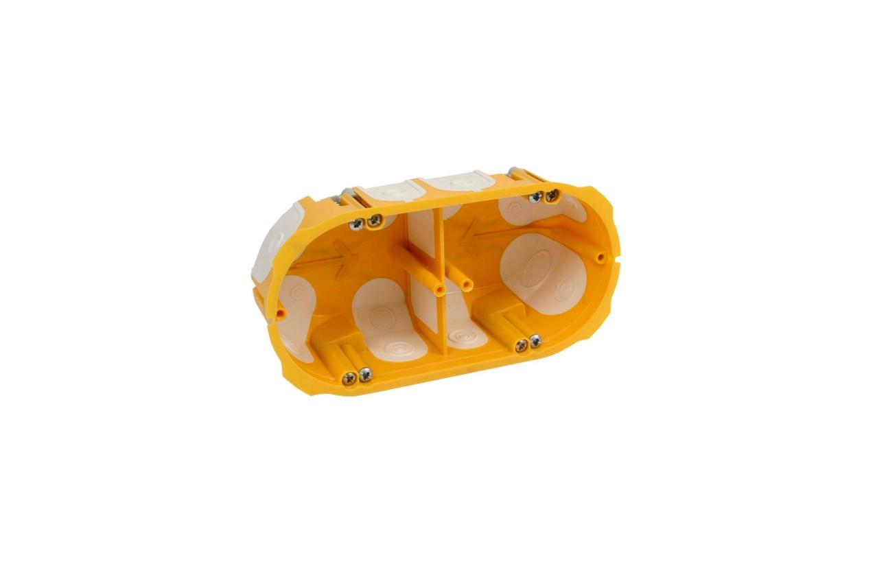 Caixa de aparelhagem dupla com entradas flexíveis KPL 64-50/2LD