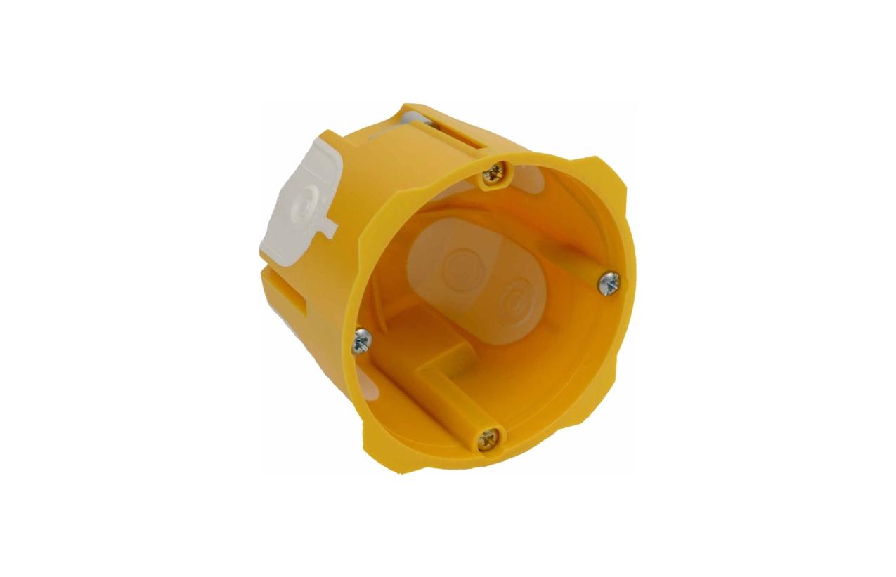 Caixa de aparelhagem simples 60mm com entradas flexíveis KPRL 64-60/LD