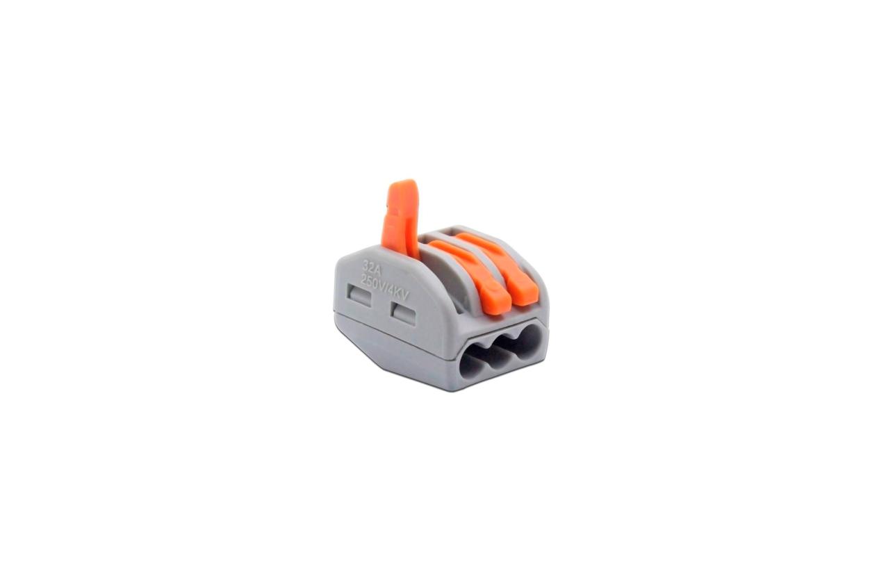 Ligador rápido para fio rígido ou flexível 3x2,5mm
