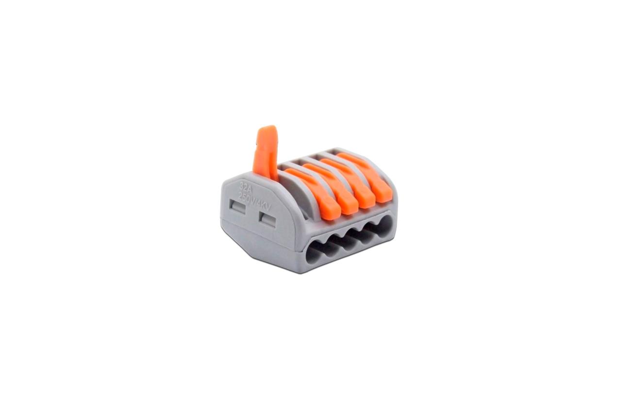 Ligador rápido para fio rígido ou flexível 5x2,5mm