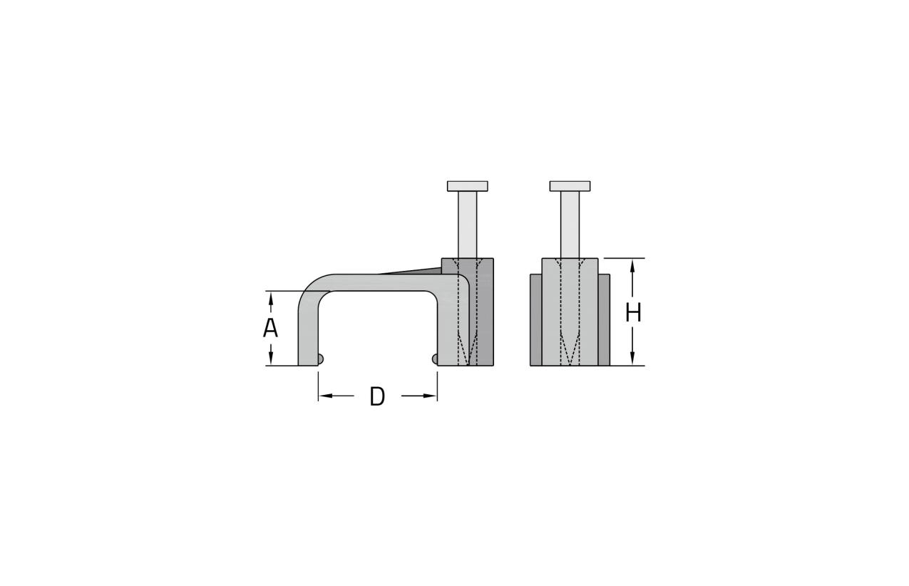 Abraçadeira plana com prego Ø6mm