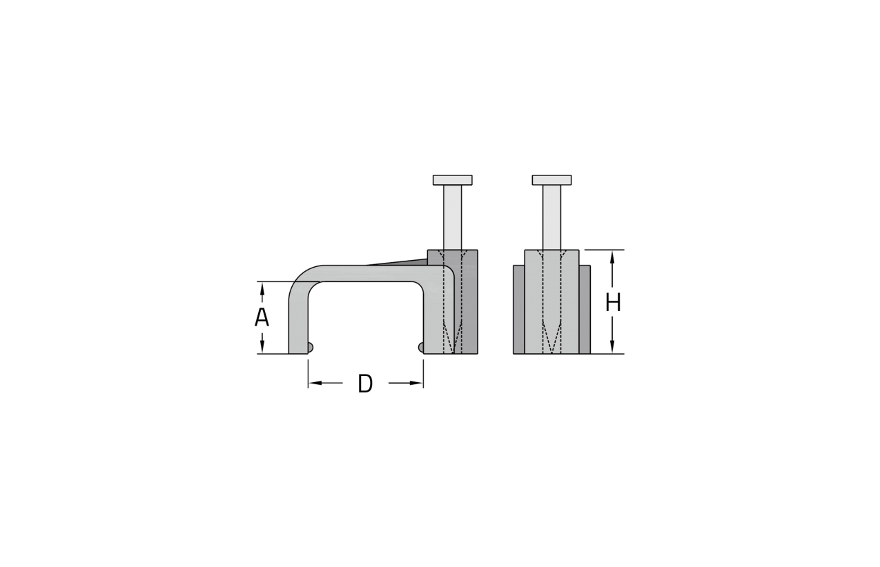 Abraçadeira plana com prego Ø10mm