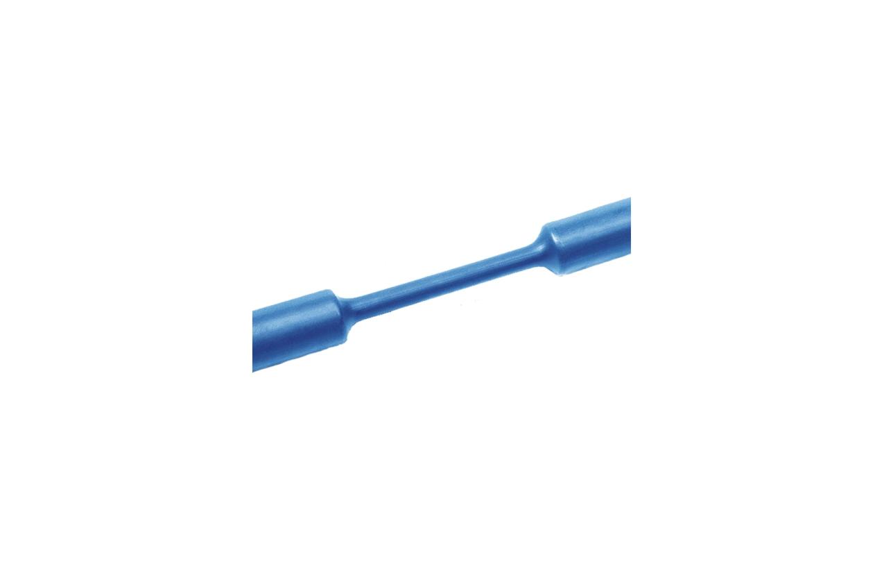 Tubo termoretrátil parede fina azul 6,4-3,2mm