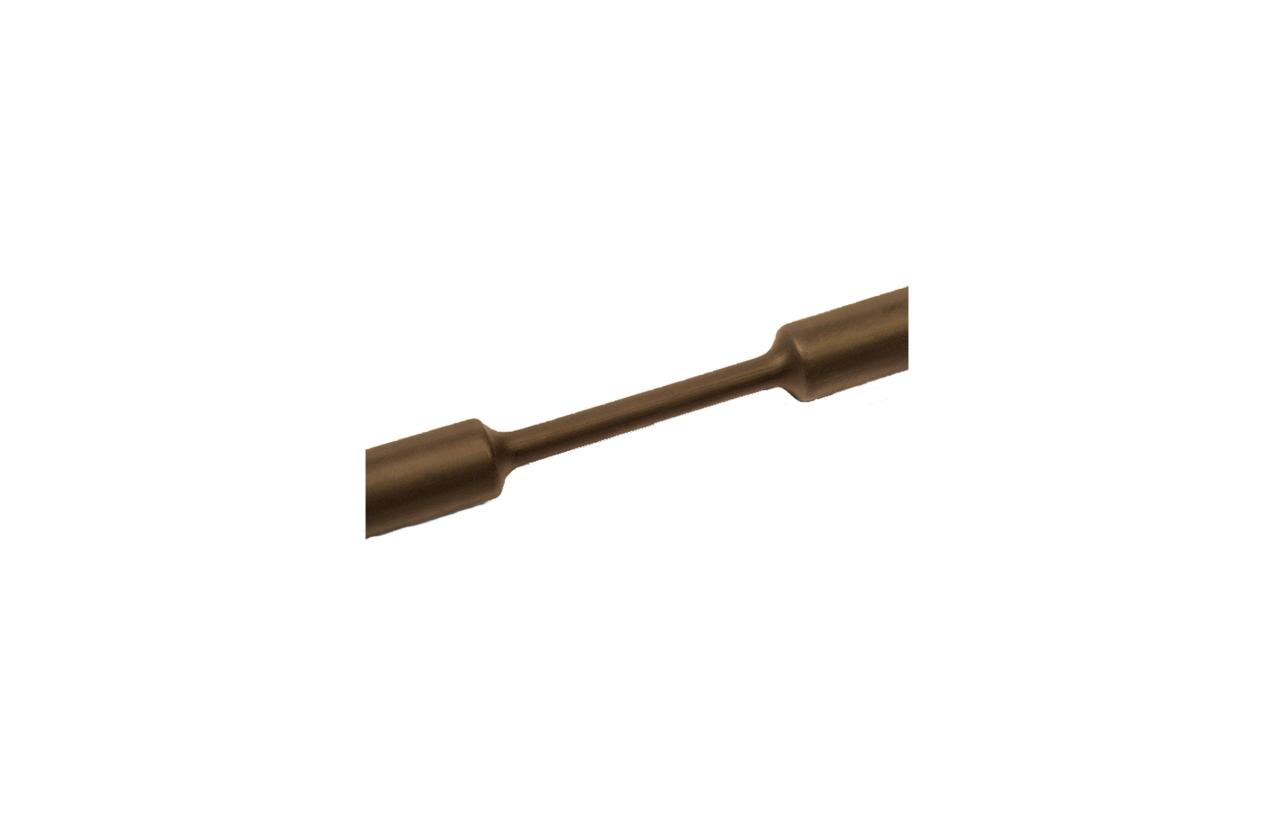 Tubo termoretrátil parede fina castanho 6,4-3,2mm