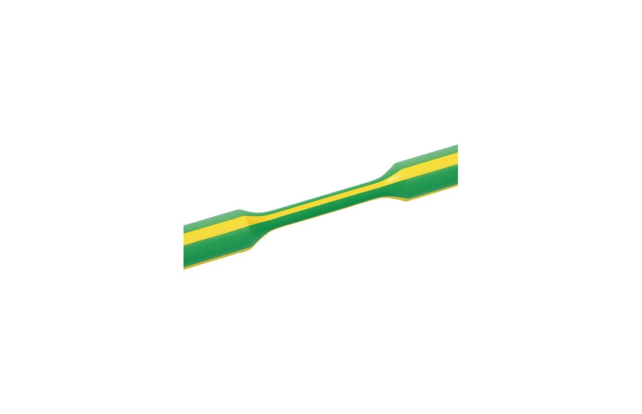 Tubo termoretrátil parede fina verde/amarelo 9,5-4,8mm