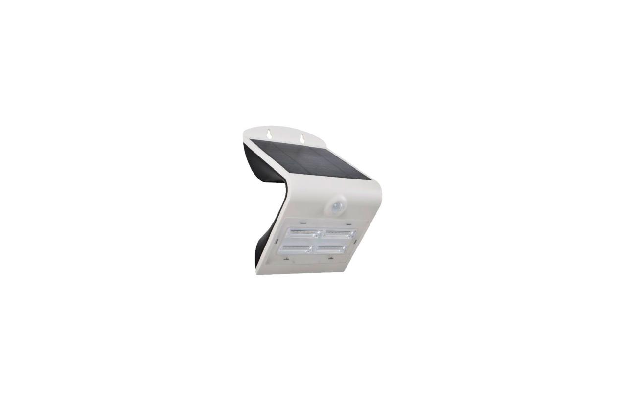 Aplique LED solar 3,2W branco com detetor movimento 8502B