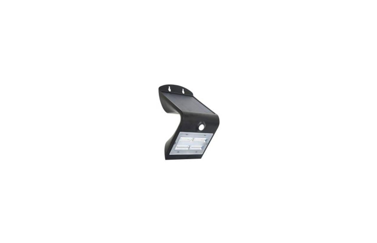 Aplique LED solar 3,2W preto com detetor movimento 8502N