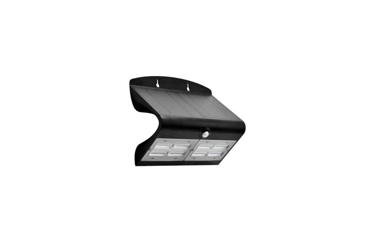 Aplique LED solar 6,8W preto com detetor movimento 8503N