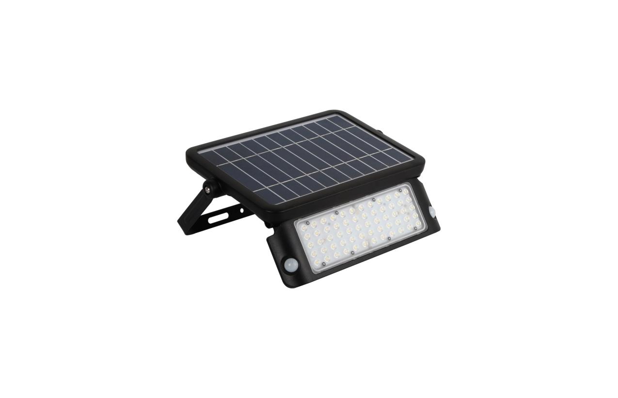 Projetor LED solar IP65 10W preto com detetor movimento 8520N