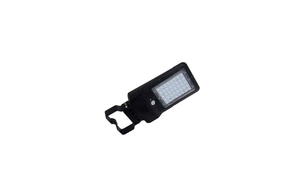 Luminária LED solar 8W preta com detetor movimento 8530N