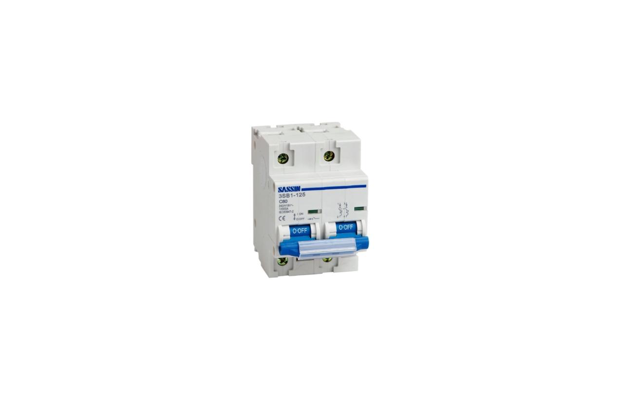 Disjuntor magnetotérmico 3P 80A curva C 10kA C125 3C080