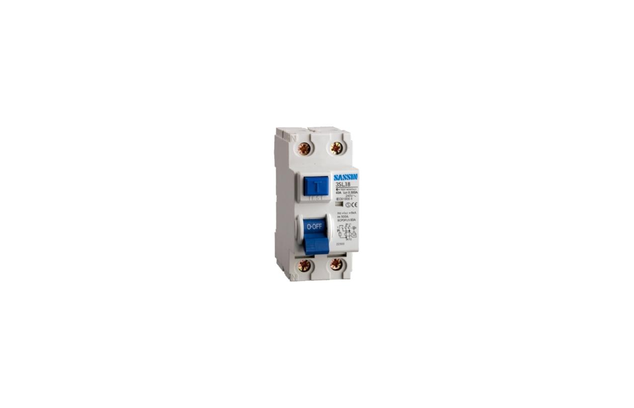 Interruptor diferencial 2P 40A 300mA tipo AC L18M2C040/300