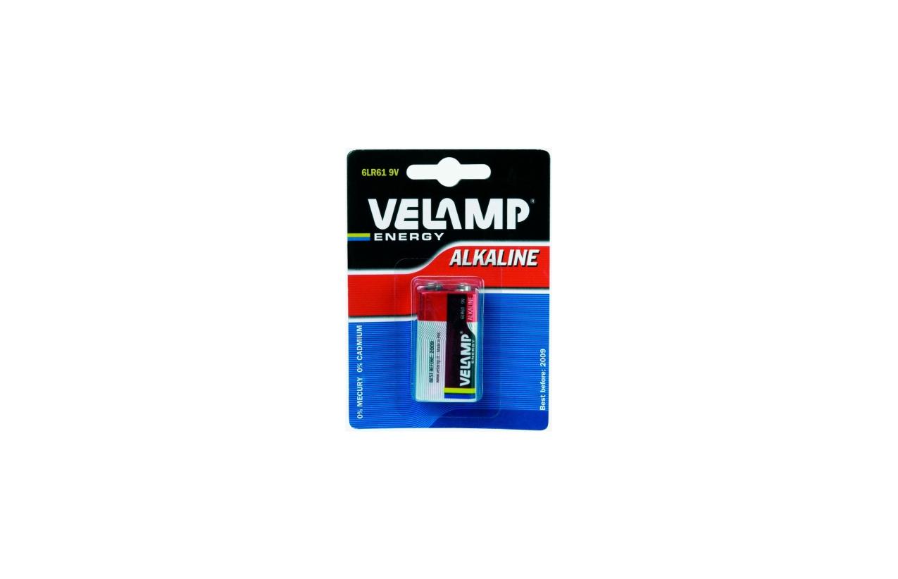 Pilha alcalina 6LR61 9V
