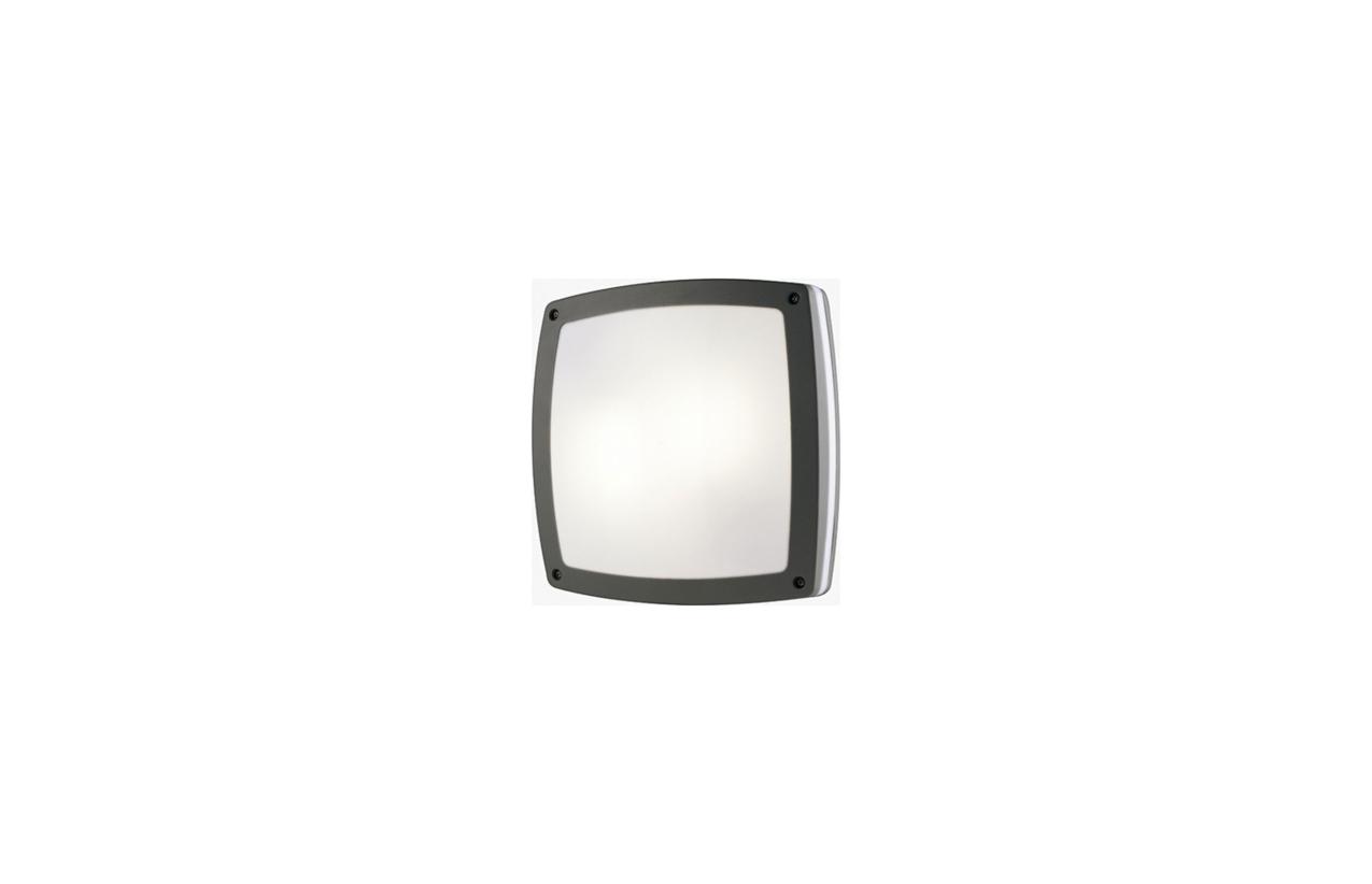 Plafonier KIRA IP54 antracite 300x300mm 169C-G05X1A-04