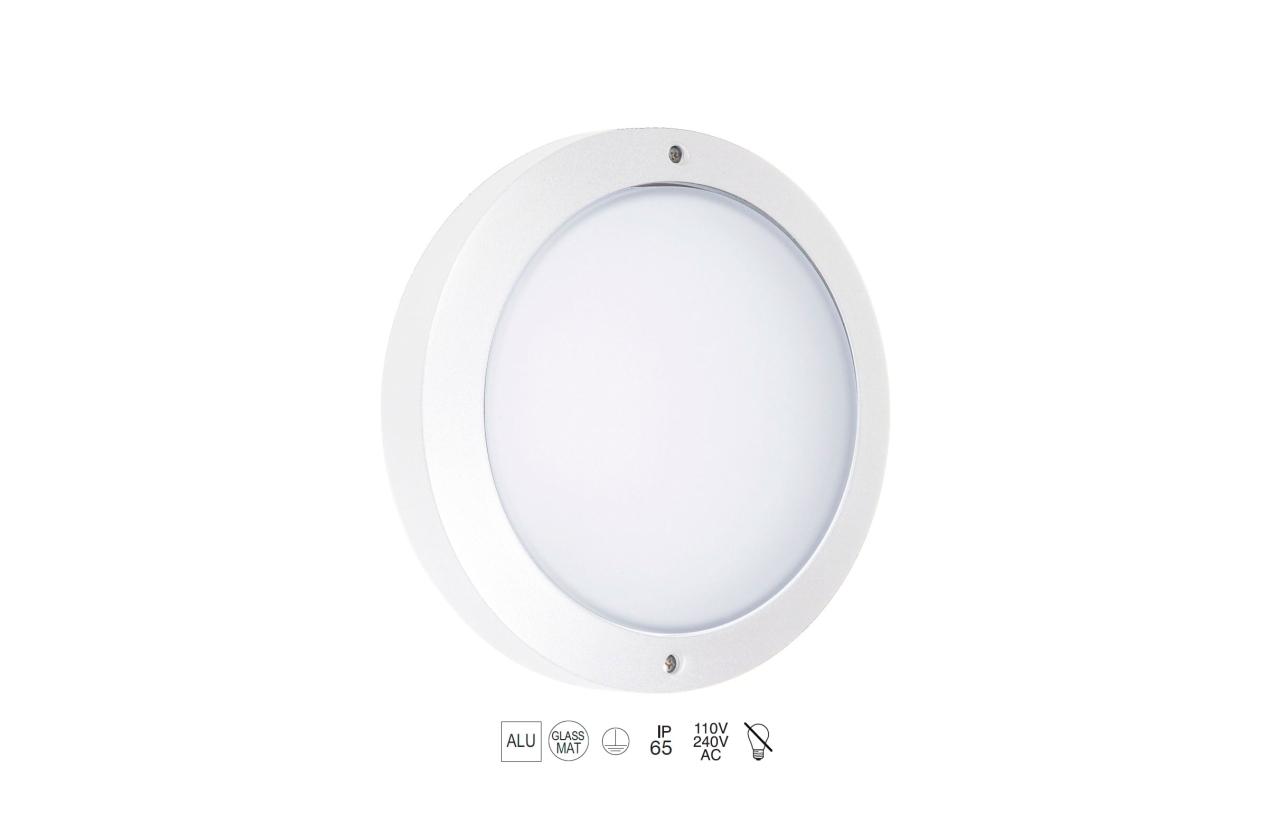 Plafonier PAMPERO IP65 branco 232A-G05X1A-01