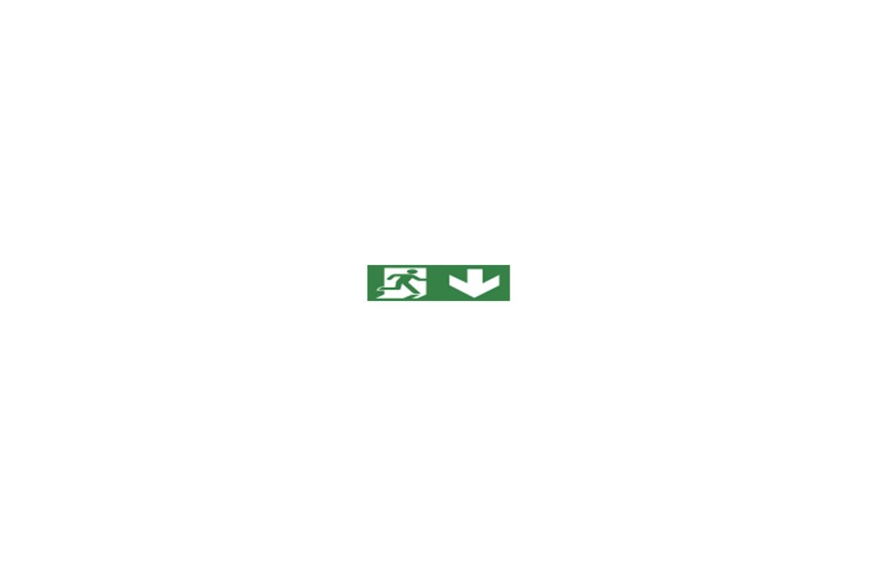 Pictograma porta de saída para armaduras de emergência Aerlux IP44 / IP65