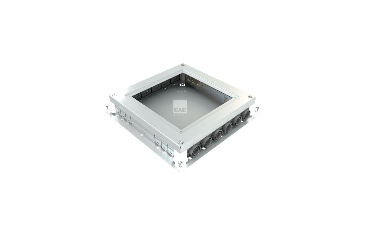 Caixa de pavimento metálica para betonilha (16/24 módulos)