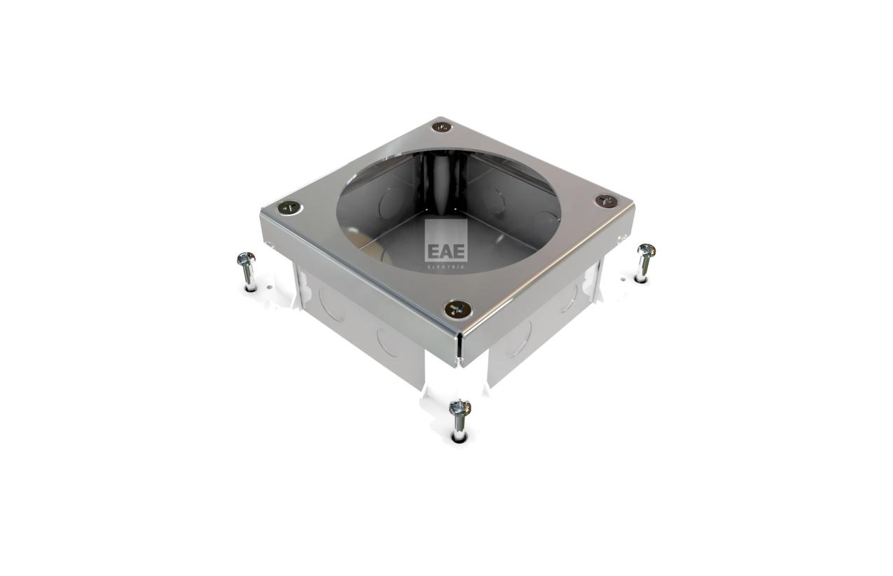 Caixa de chão metálica para betonilha (6 módulos)