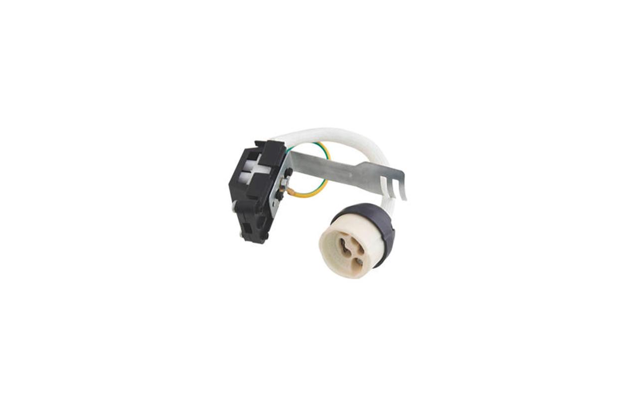 Casquilho GU10 com ligador de repicagem