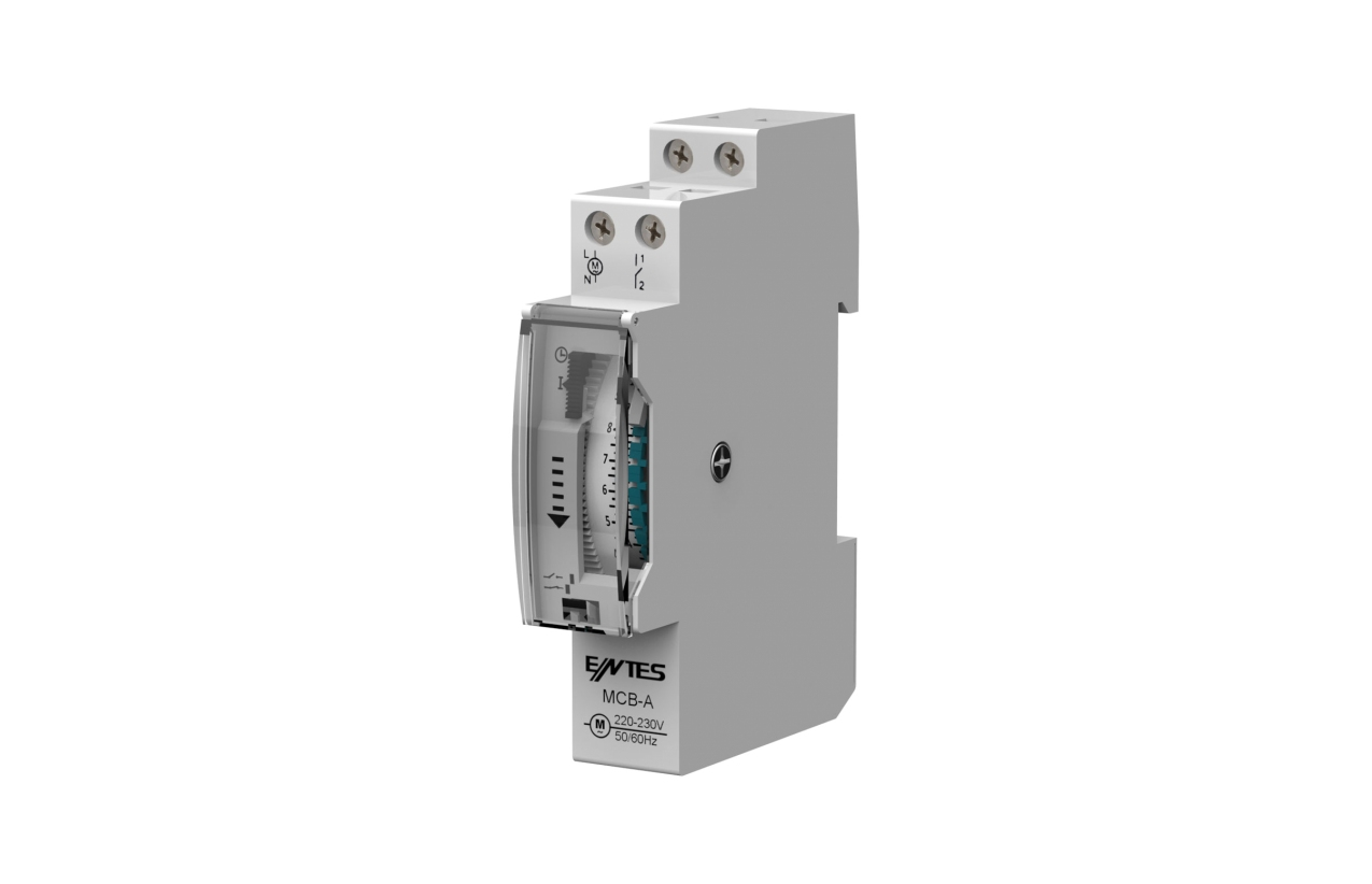Interruptor horário analógico 24H com reserva de marcha MCB-A